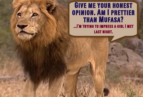 Quote of the Day - Prettier Than Mufasa