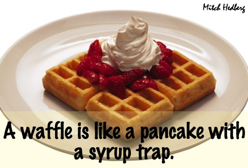 Quote of the Day - Waffles vs. Pancakes